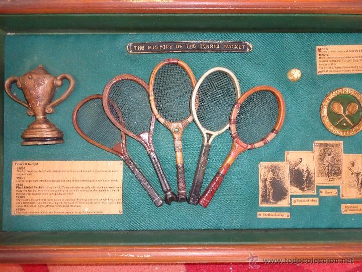 cuadro antigua historia de las raquetas de teni - Comprar en ...