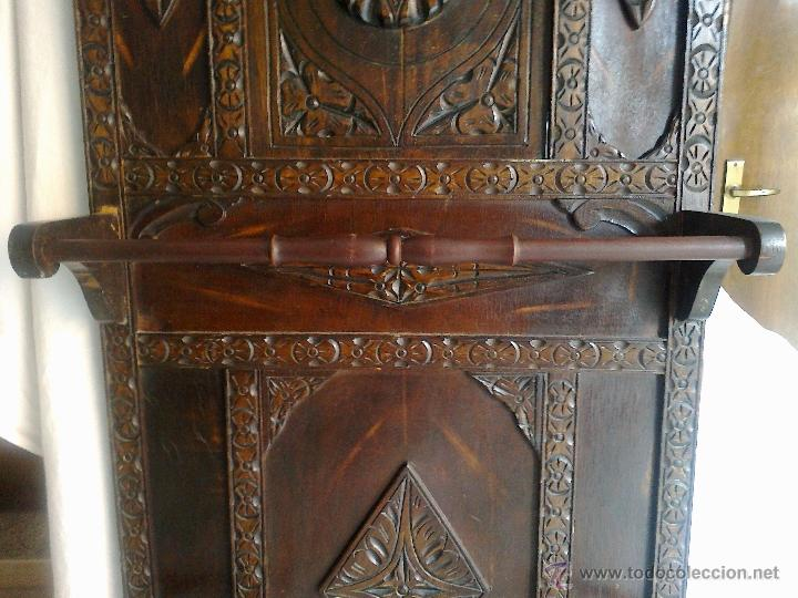 Antiguo mueble de entrada recibidor paraguero comprar muebles auxiliares antiguos en - Mueble perchero entrada ...