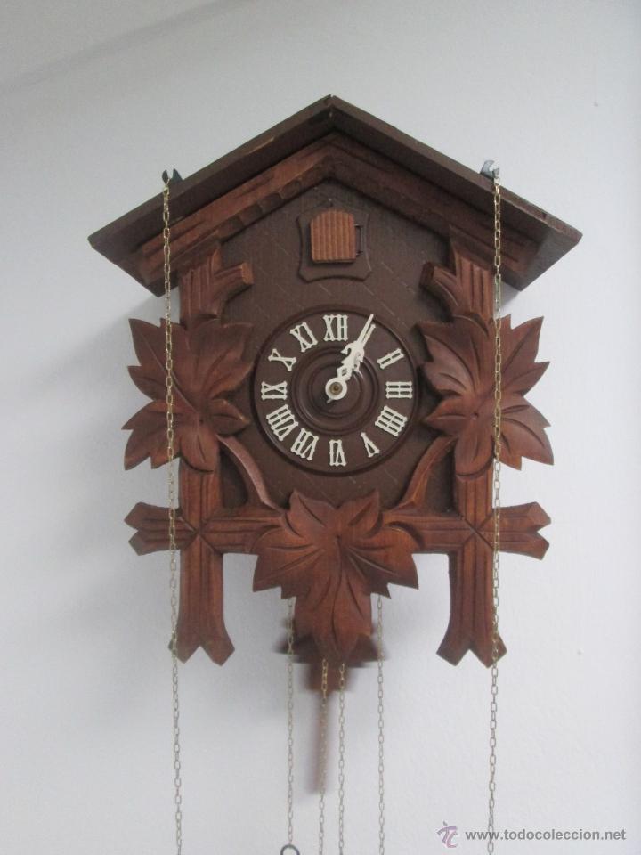 Precioso reloj de cuco o cuc vintage original comprar - Reloj de pared original ...