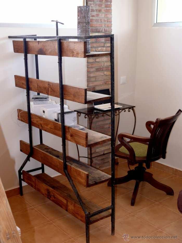 Maravillosa estanteria separador ambientes anti comprar for Diseno de muebles de hierro