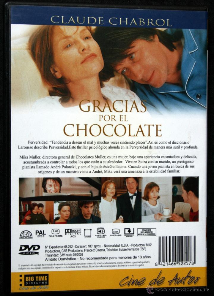 gracias por el chocolate - claude chabrol - dvd - Comprar Películas ...