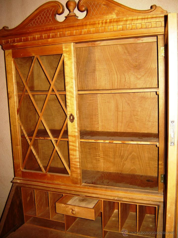 Mueble vitrina escritorio para restaurar ancho comprar for Mueble 45 cm ancho