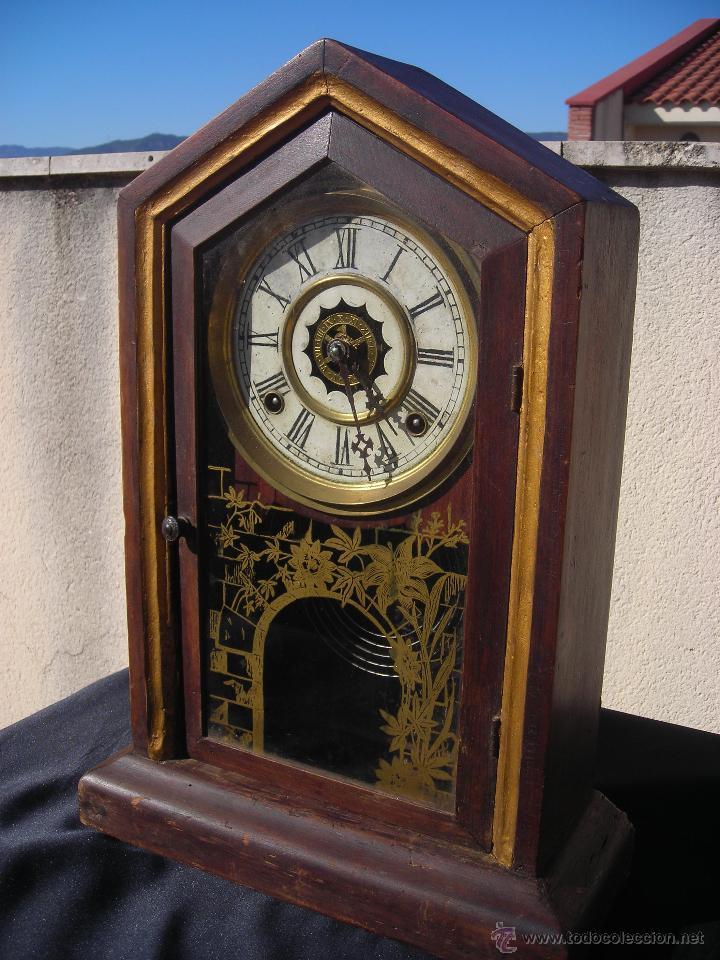 Antiguo reloj de pared waterbury clock co usa comprar - Relojes para decorar paredes ...
