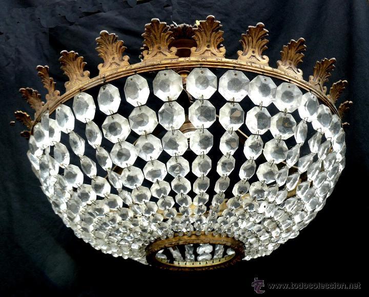 Lampara antigua plafon cristales ara a circa 19 comprar - Lamparas de arana antiguas ...