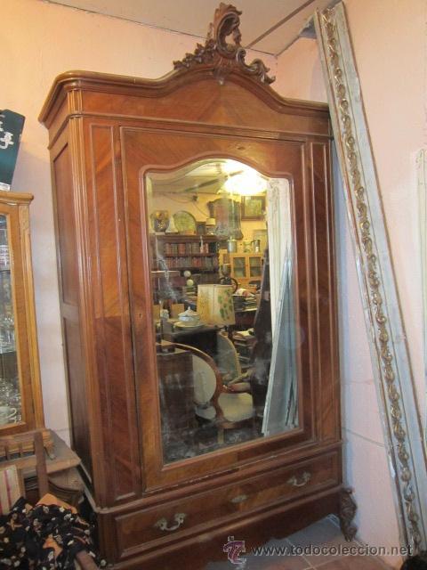Armario ropero siguiendo estilo luis xv en made comprar armarios antiguos en todocoleccion - Ropero antiguo ...