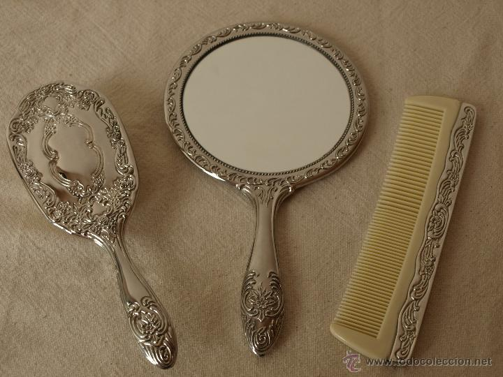 conjunto de tocador espejo peine y cepillo e comprar