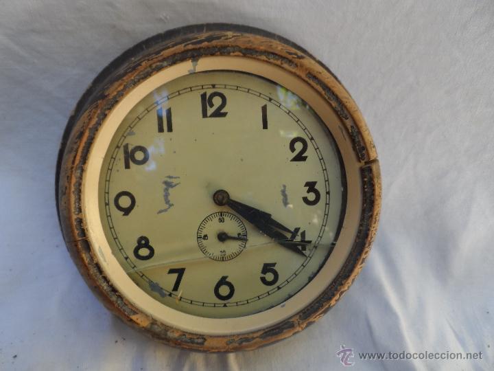Reloj de pared antiguo tipo reloj de barco comprar relojes antiguos de pared carga manual en - Relojes pared antiguos ...