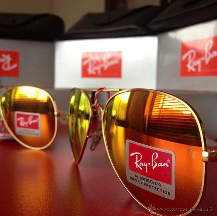 gafas ray ban aviator con cristal de espejo
