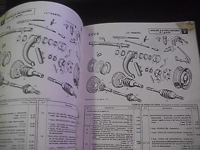 manual de despiece citroen 2cv 6 con tiempos comprar cat logos rh todocoleccion net manual despiece citroen dyane 6 manual de taller citroen 2cv pdf
