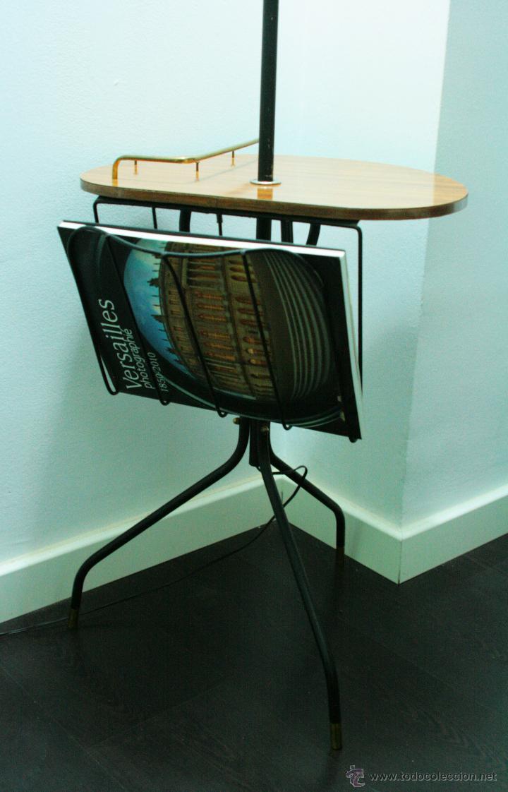 Lampara de pie con mesa formica con revistero d comprar l mparas vintage apliques - Lampara de pie con mesa ...