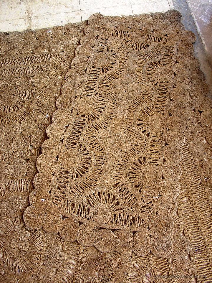 Antiguas alfombras artesanales de esparto comprar for Alfombras persas redondas