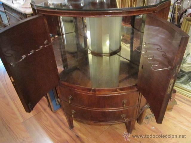 Antiguo mueble bar esquinero con luz interior comprar for Mueble bar esquinero