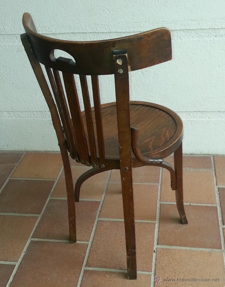 Silla o sillas de bar de respaldo bajo vintage comprar for Sillas de madera precios