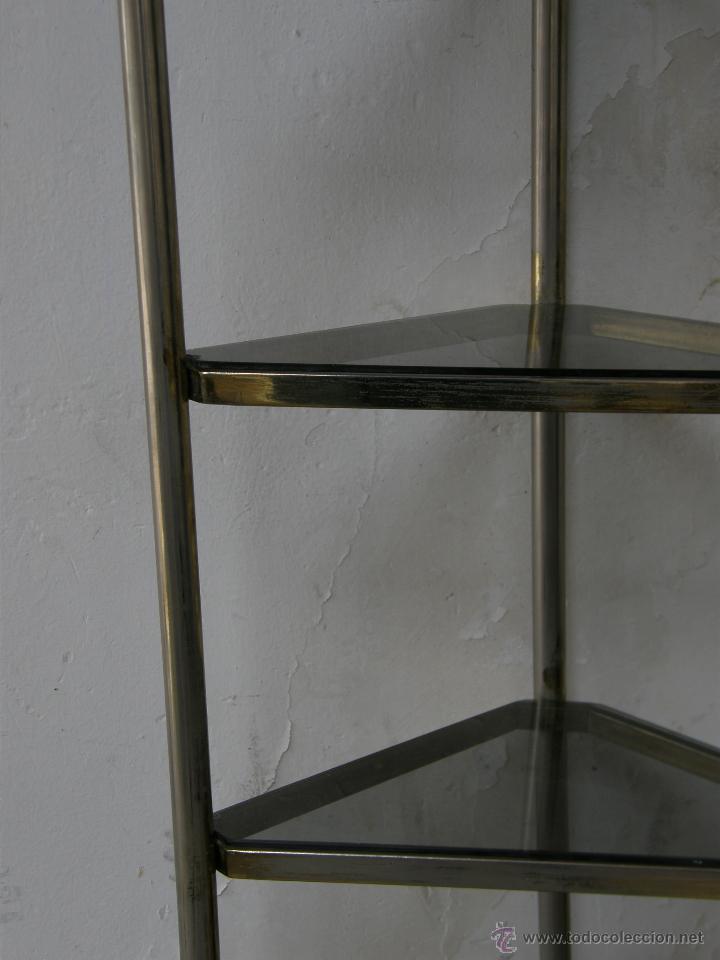 Estanter a de esquina esquinera metal blanco do comprar for Mesa auxiliar esquinera