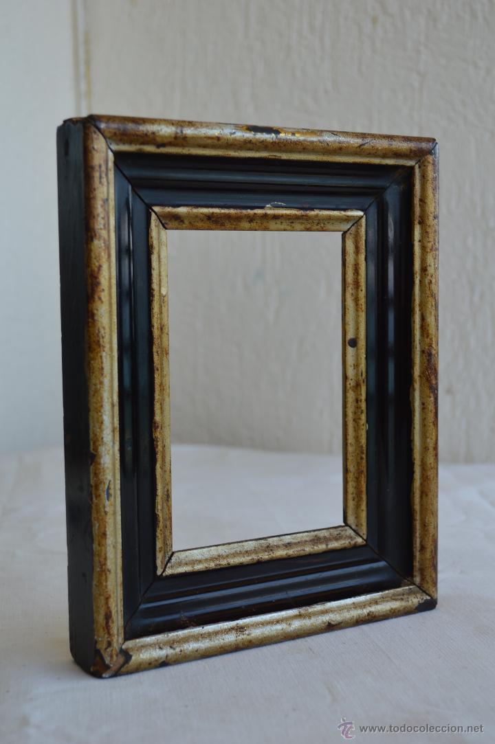 antiguo marco en madera, parte dorado, parte po - Comprar Marcos ...