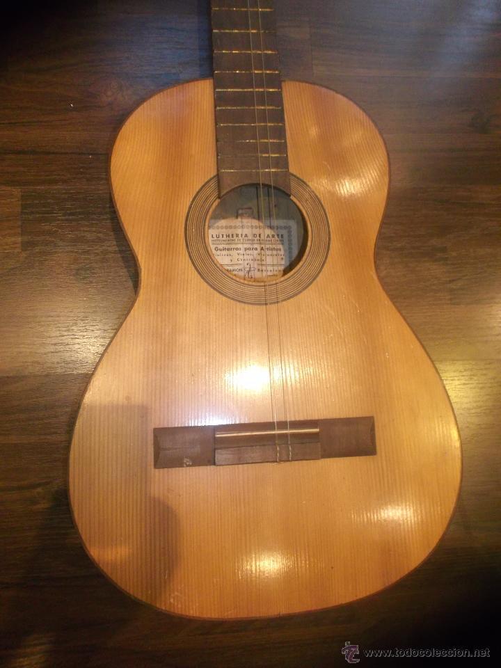 Antigua guitarra espa ola fabricada por lutheri comprar for Guitarras barcelona