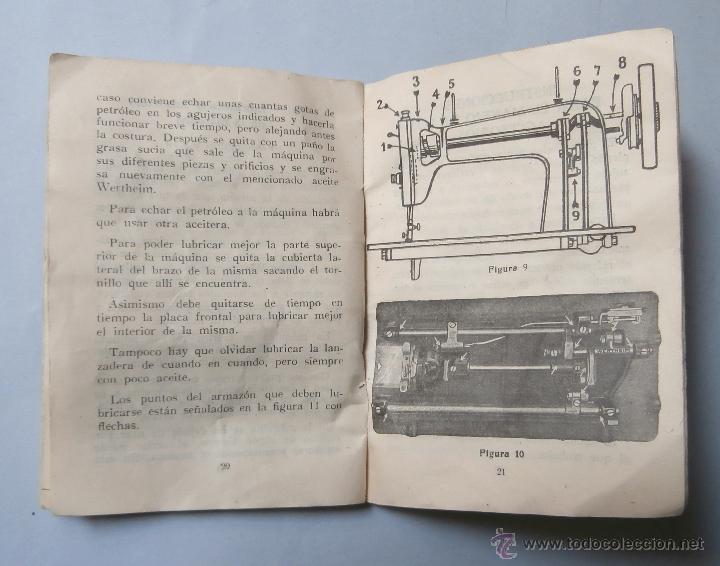 manual de instrucciones maquina coser wertheim - Comprar