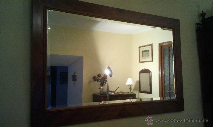 Espejo grande antiguo de nogal cristal biselado comprar - Espejos antiguos grandes ...