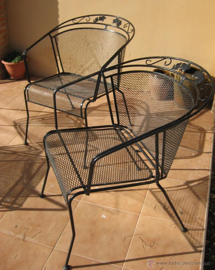 Lote 4 sillas hierro forja jardin grandes a os comprar for Sillas hierro jardin