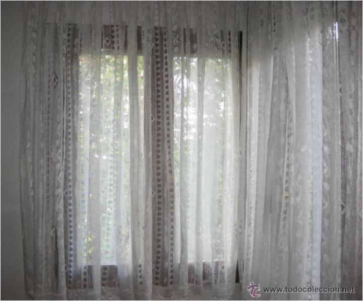 Visillos cortinas de encaje para 2 ventanas la comprar for Cortinas y visillos confeccionados