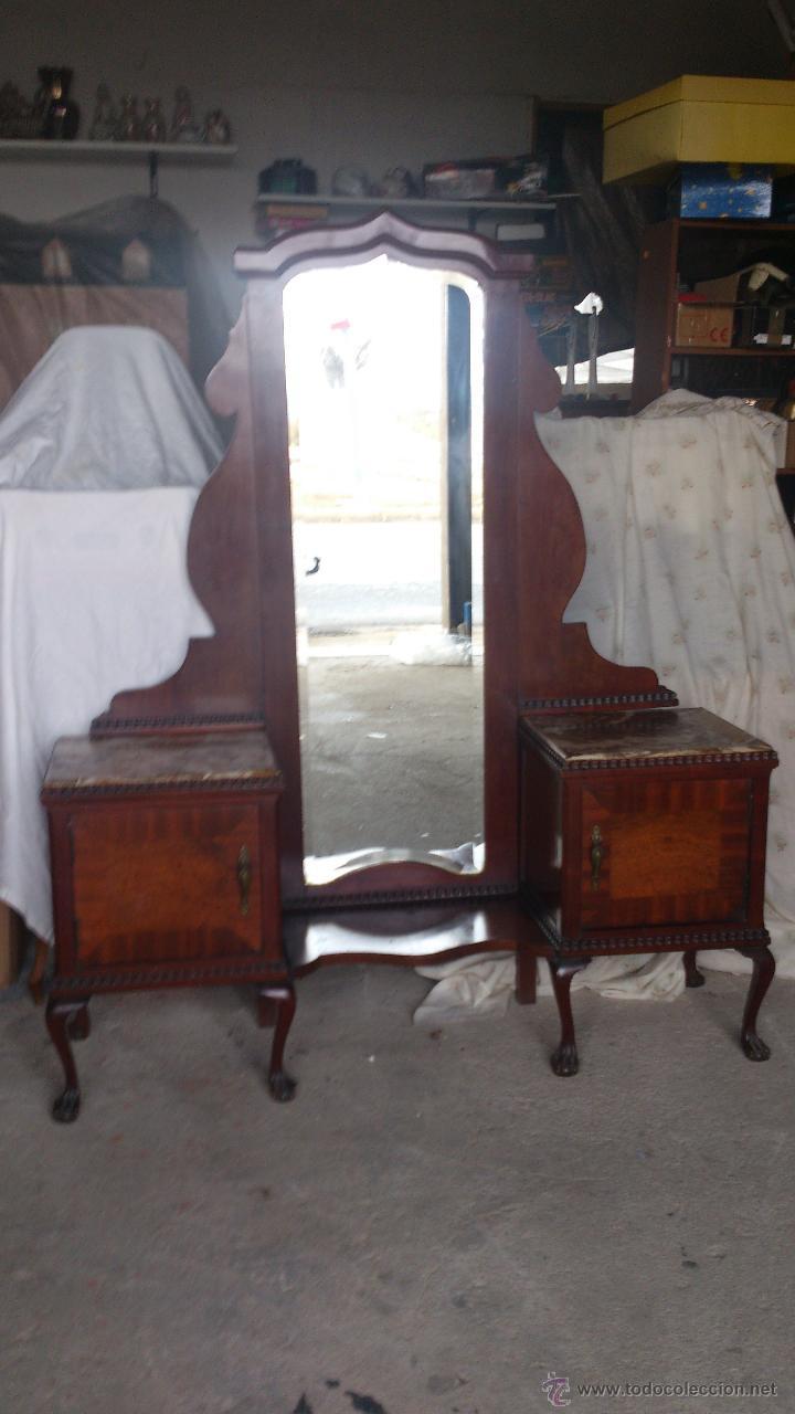 antiguo mueble tocador con espejo, con 2 puerta - Comprar Espejos ...