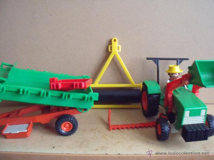Playmobil bat tractor de la granja con remolque comprar for La granja de playmobil precio