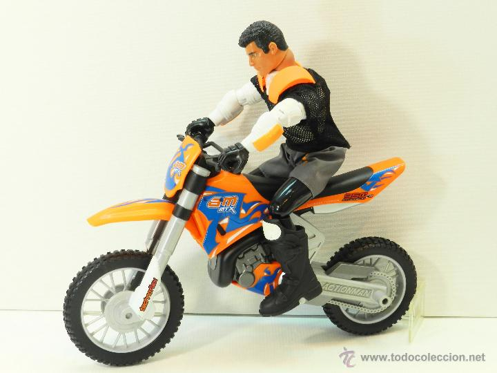 action man con moto motocros comprar action man en todocoleccion 46657904. Black Bedroom Furniture Sets. Home Design Ideas