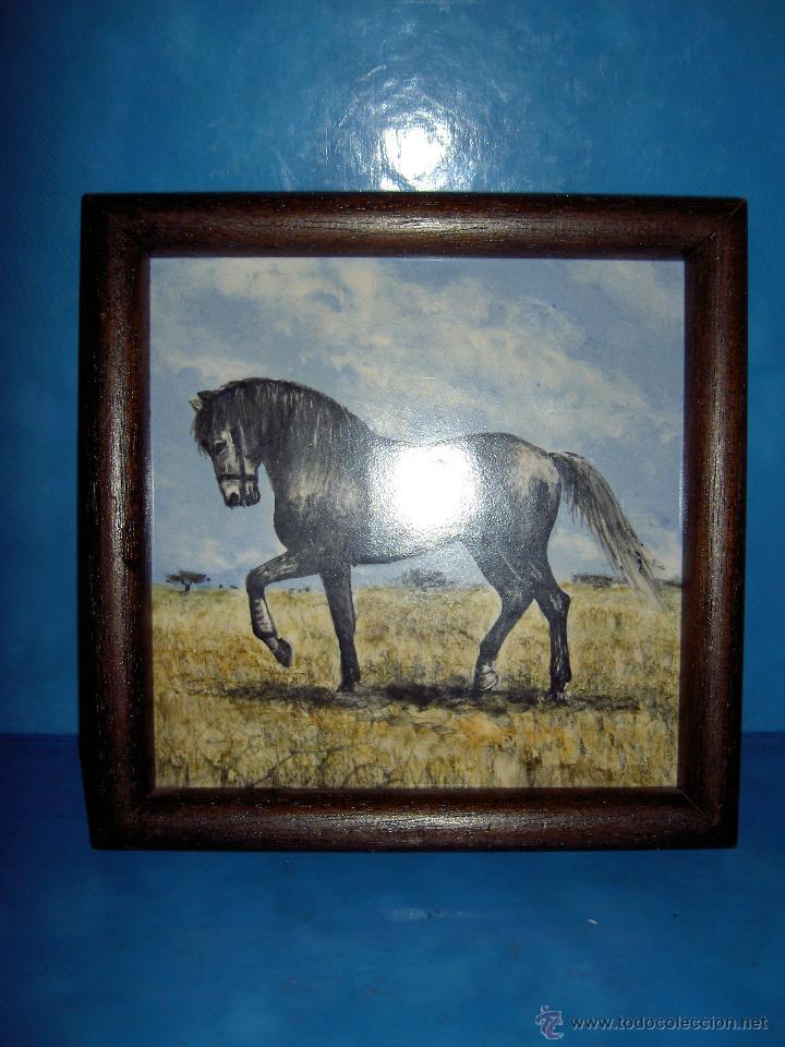 cuadro azulejo caballo azulejo enmarcado - Comprar Porcelana y ...