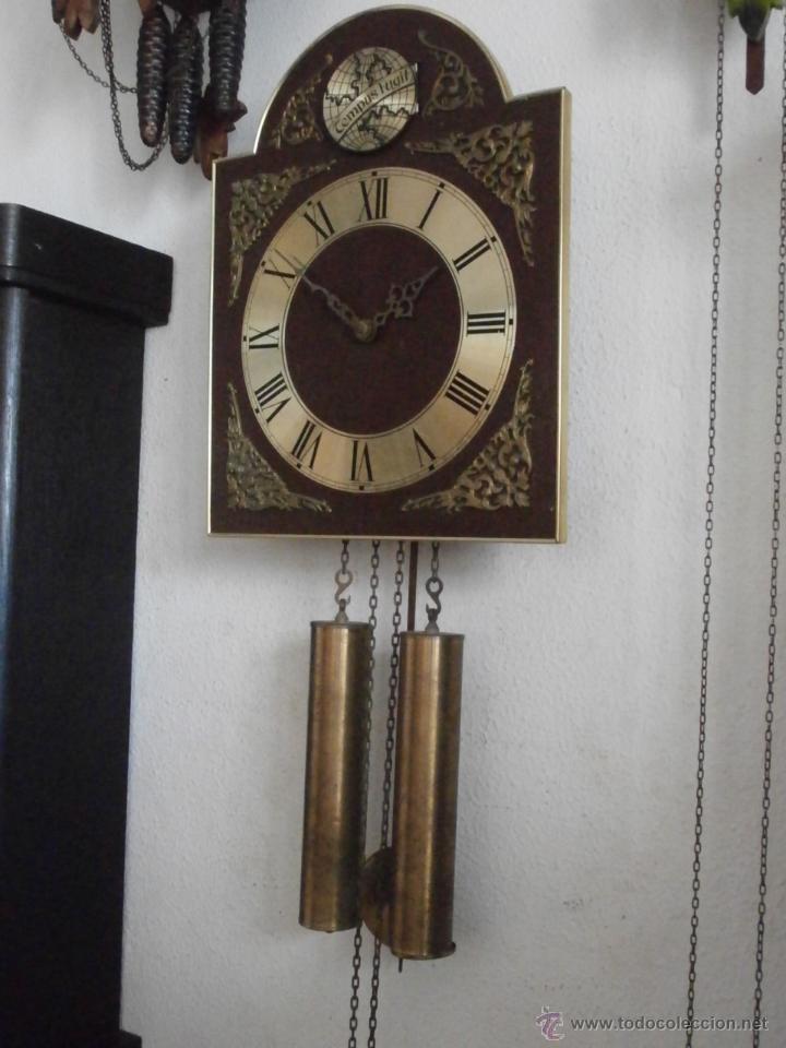 Reloj antiguo de pared alem n con sistema de pe comprar - Relojes pared antiguos ...