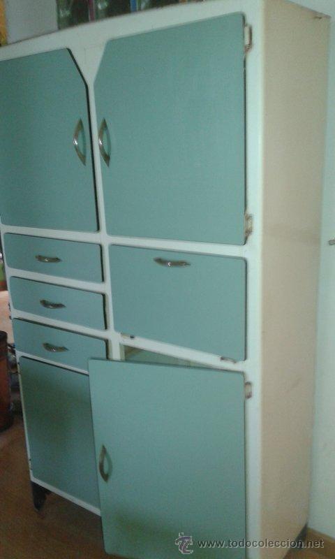 Chinero o alacena mesa y banco vintage comprar muebles for Muebles de cocina de 70 o 90