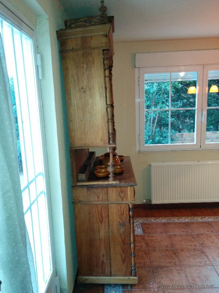 Armario Antiguo Pintado ~ antiguo mueble aparador de cocina en pino, idea Comprar Aparadores Antiguos en todocoleccion