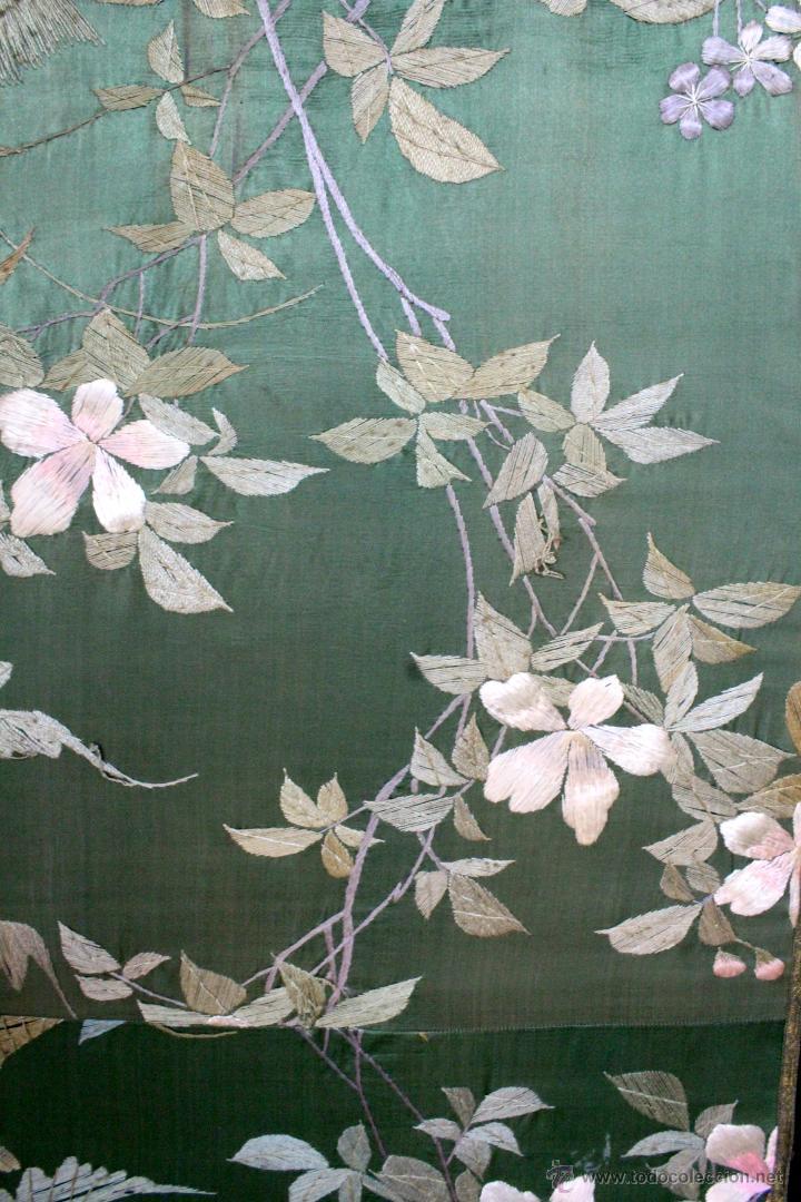 Antiguo biombo chino lacado en negro tapizado comprar en todocoleccion 47728421 - Biombos chinos antiguos ...