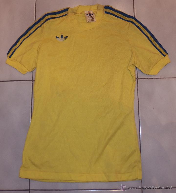 camiseta adidas originals amarilla