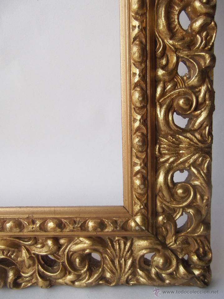 Lote de dos antiguos marcos madera tallada per comprar marcos antiguos de cuadros en - Marcos clasicos para cuadros ...