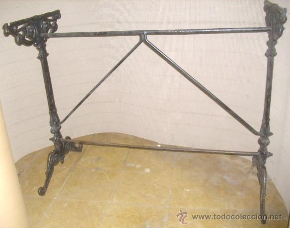 Antiguo pie patas mesa bar hierro forja 95x40x7 comprar mesas antiguas en todocoleccion 48263582 - Patas de forja para mesas ...
