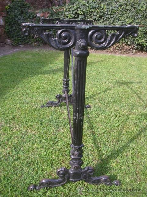 Antiguo pie patas mesa bar hierro forja 95x40x7 comprar mesas antiguas en todocoleccion 48263622 - Patas de forja para mesas ...