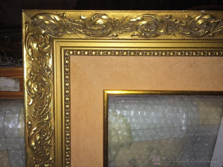 Antiguo marco cuadro dorado de gran tama o pa comprar for Marcos para pinturas