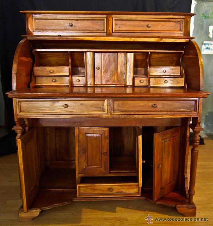 Bur escritorio en madera de teca comprar escritorios - Color teka en muebles ...