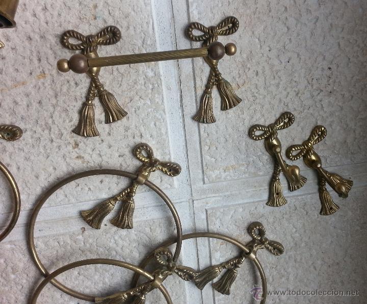 Aplique y accesorios de ba o en bronce juego m comprar for Accesorios bano bronce