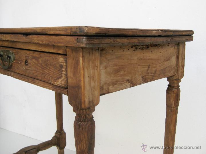 Preciosa mesa antigua xviii xix en madera idea comprar for Mesas antiguas de madera
