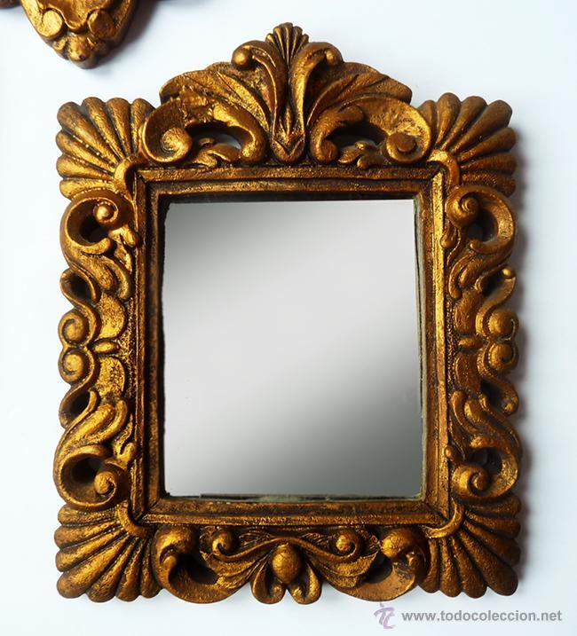 Conjunto de 3 espejos antiguos de estilo barroc comprar - Marcos espejos antiguos ...