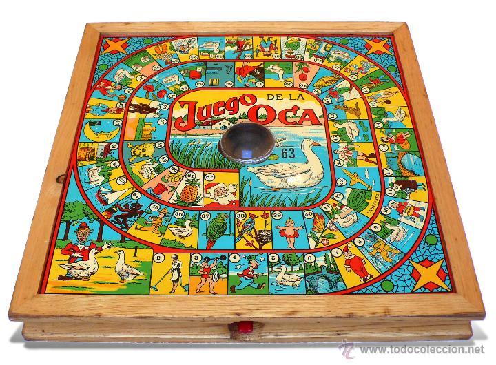 Juego de la oca y parchis en madera con dado in comprar juegos de mesa antiguos en - La oca juego de mesa ...