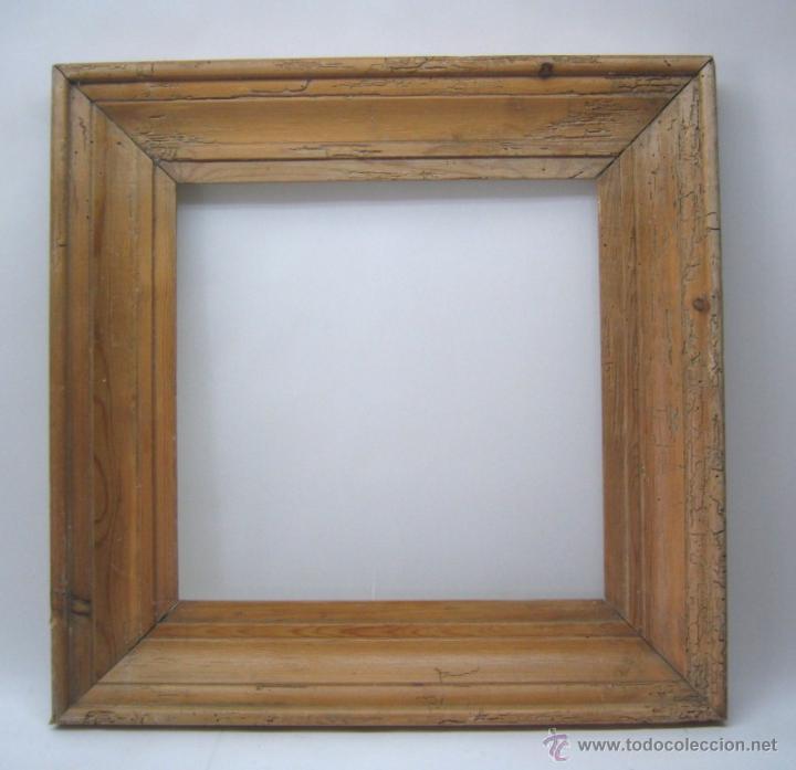 antiguo grueso marco moldura madera de pino vie - Comprar Marcos ...