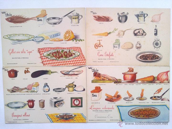 57 recetas fichas cocina grafica waly creacio comprar - Cocinas anos 50 ...