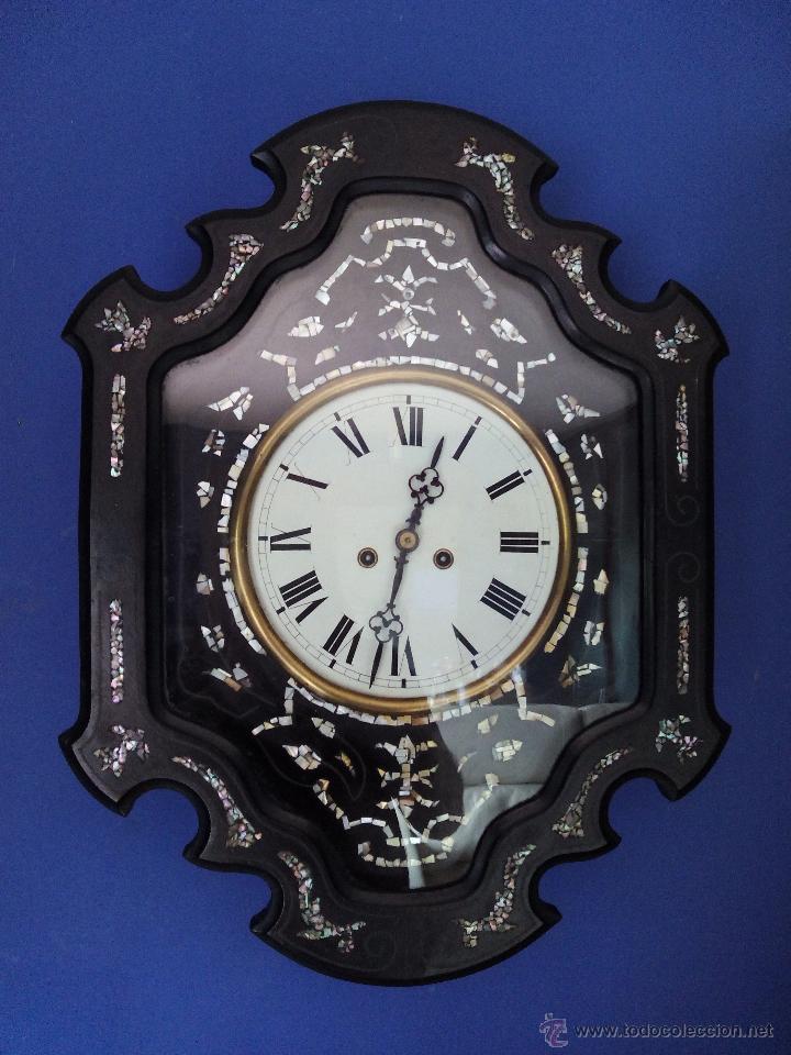 Antiguo Reloj Ojo De Buey S Xix Con Incrustacio Comprar