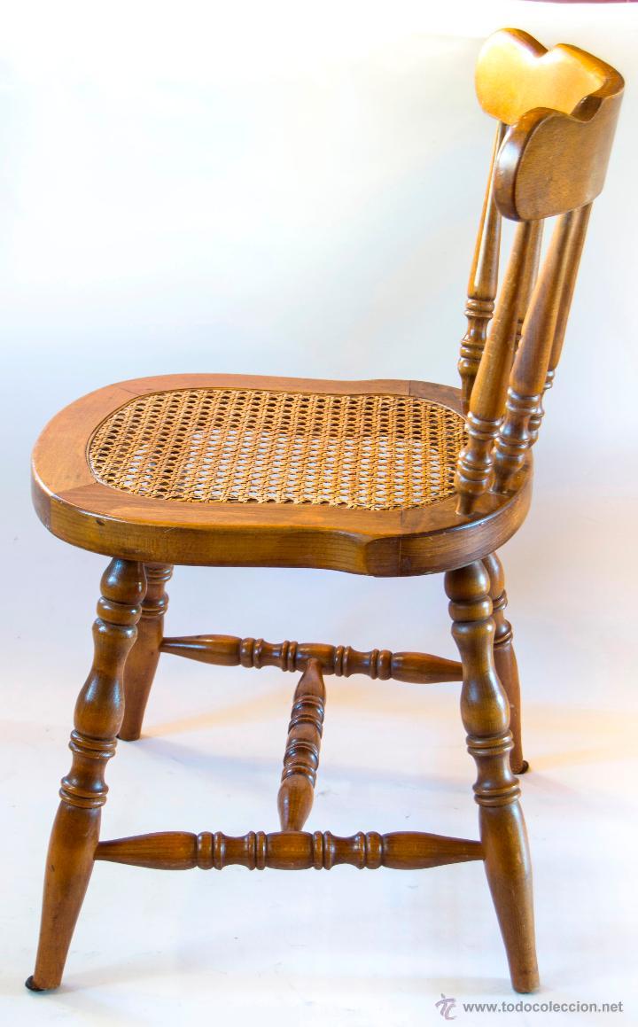 Cuatro sillas de estilo colonial madera de hay comprar - Sillas estilo colonial ...