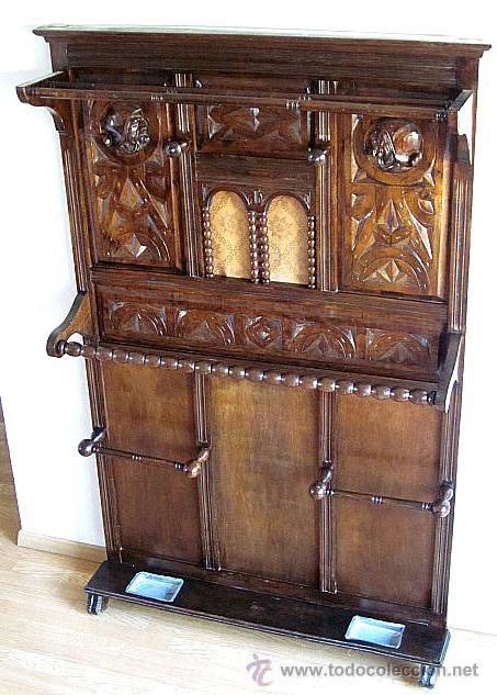 Antiguo mueble recibidor perchero parag ero apa comprar for Mueble perchero recibidor