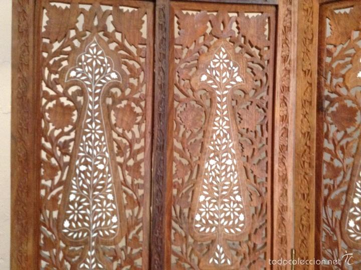 Biombo madera artesanal estilo indio y mesita d comprar - Muebles estilo indio ...