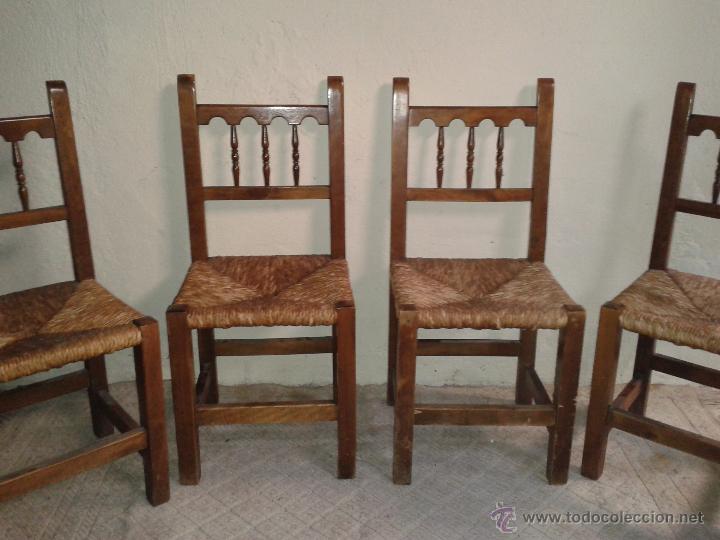cuatro sillas rústicas sillas de enea sillas an - Comprar Sillas ...