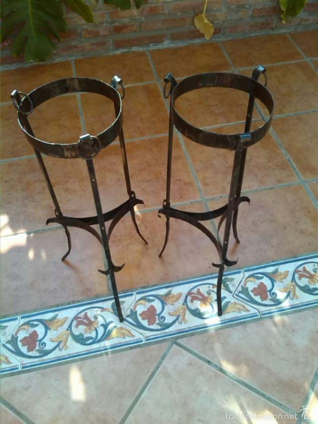 antiguo macetero,soporte para maceta ,pedestal - comprar maceteros